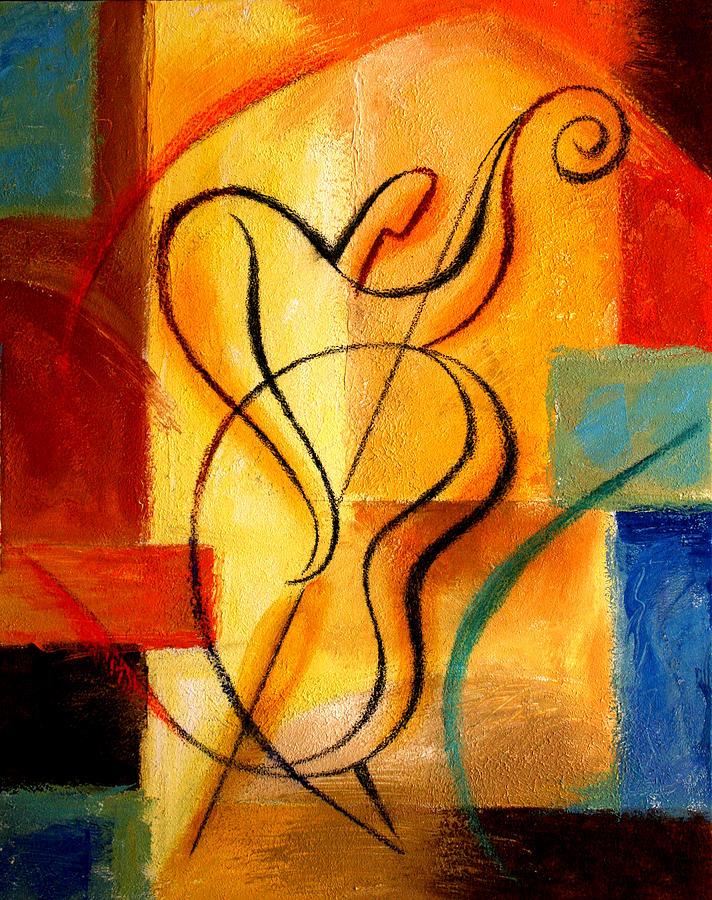 West Coast Jazz Painting -  Jazz Fusion by Leon Zernitsky