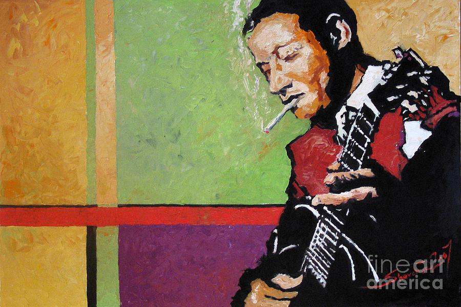 Jazz Painting - Jazz Guitarist by Yuriy Shevchuk