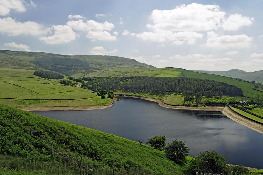 Kinder Reservoir From White Brow Photograph