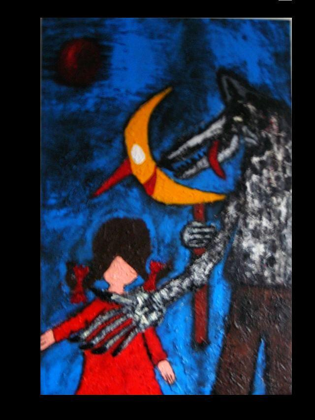 Symbolik Painting - -komm Mit....- by Despina Papadopoulou