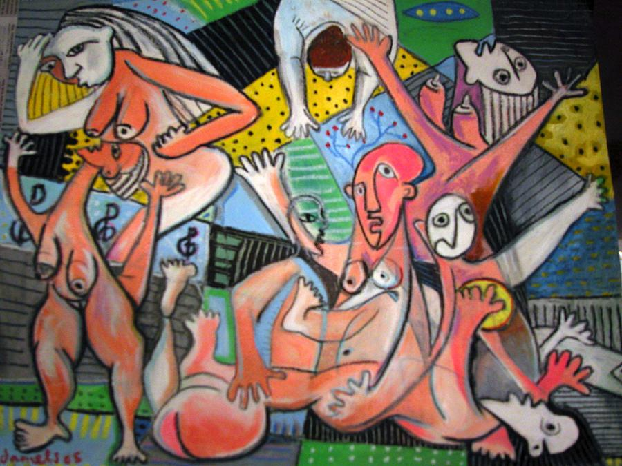 La Femmes Painting by Robert Daniels