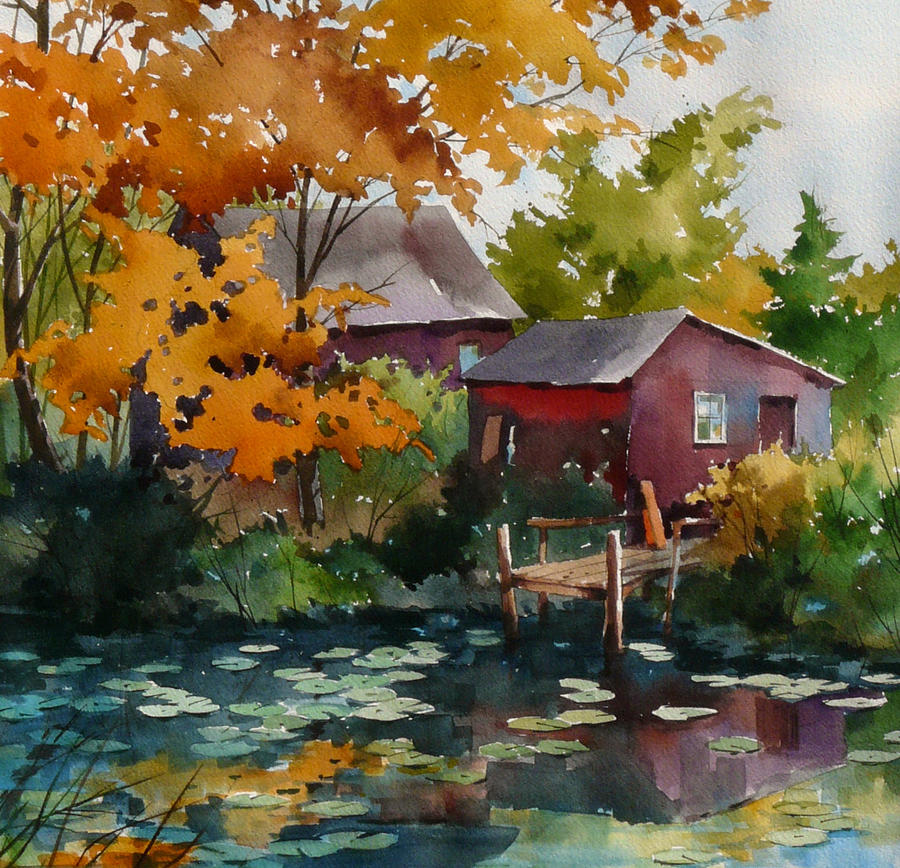 Lily Pond Painting by Art Scholz