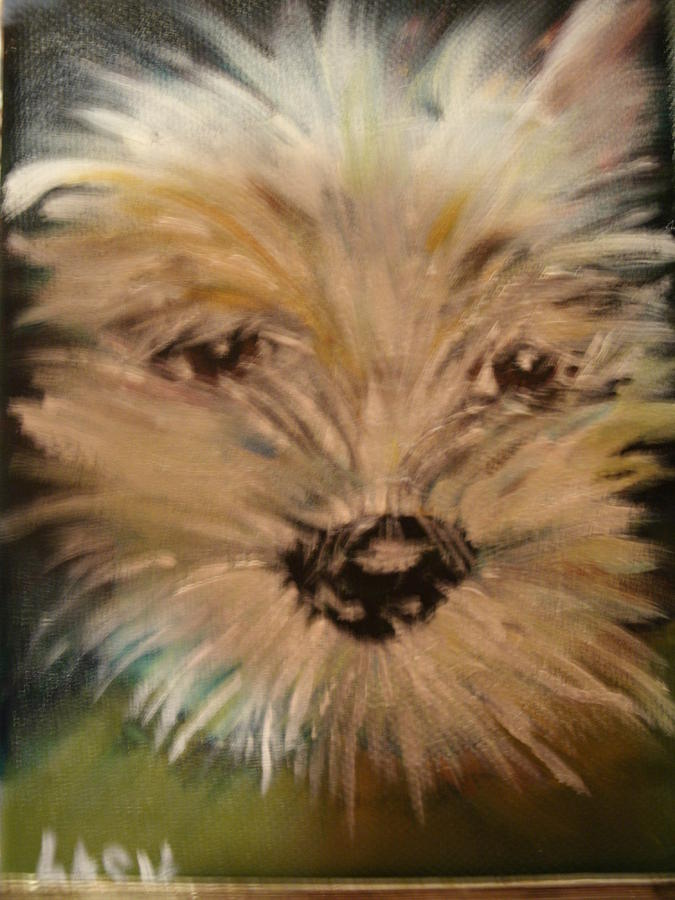 Puppy Love Painting -  Love by Terry Lash