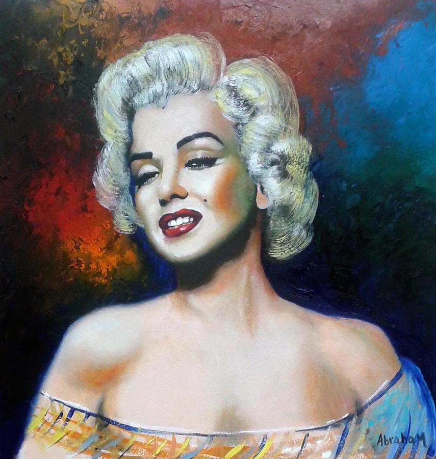 M. Monroe Painting by Jose Manuel Abraham