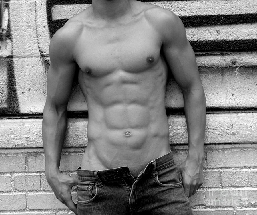 Nude Photograph -  Male Abs by Mark Ashkenazi