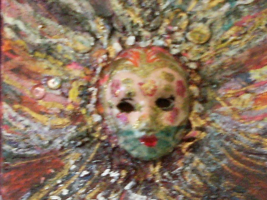 Pretty Sculpture -  Mardi Gras Mask Dedicated To Linda Lane-bloise  by Anne-Elizabeth Whiteway