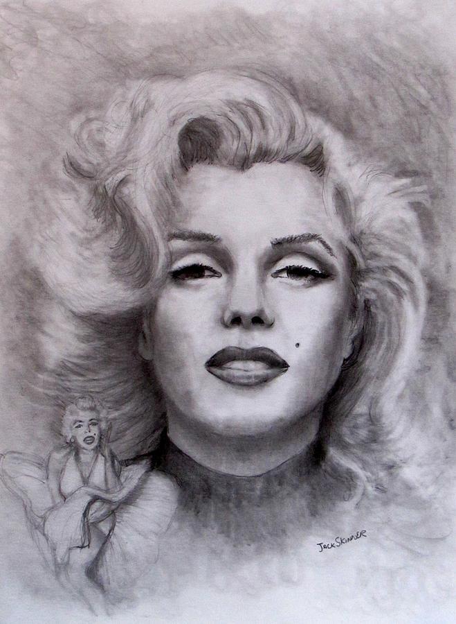 Marilyn Drawing -  Marilyn by Jack Skinner