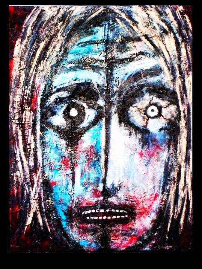 Symbolik Painting - -maske- by Despina Papadopoulou
