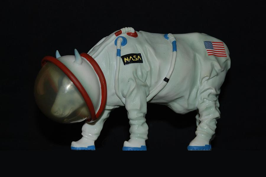 Astronauts Photograph -  Maurice The Space Cow Boy by Rob Hans