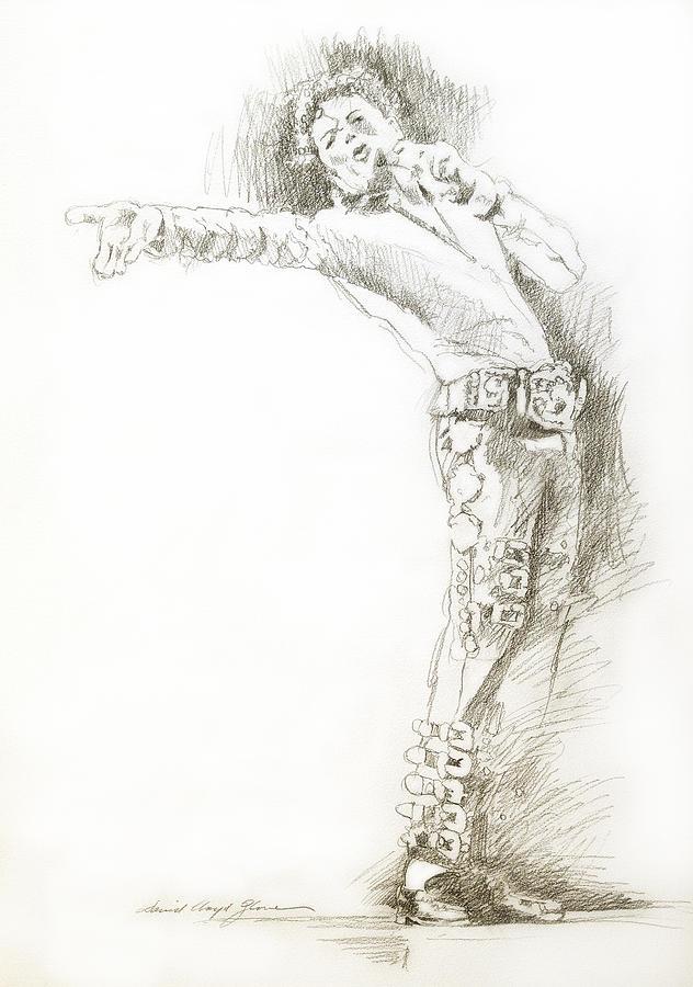 Michael Jackson Drawing -  Michael Jackson Live by David Lloyd Glover