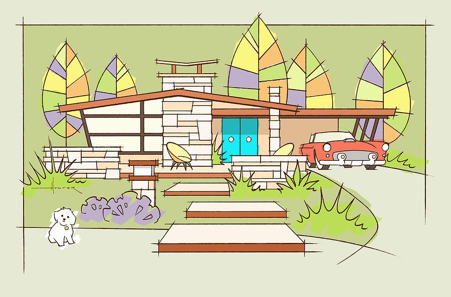 Mid-century Home, T-Bird by Larry Hunter