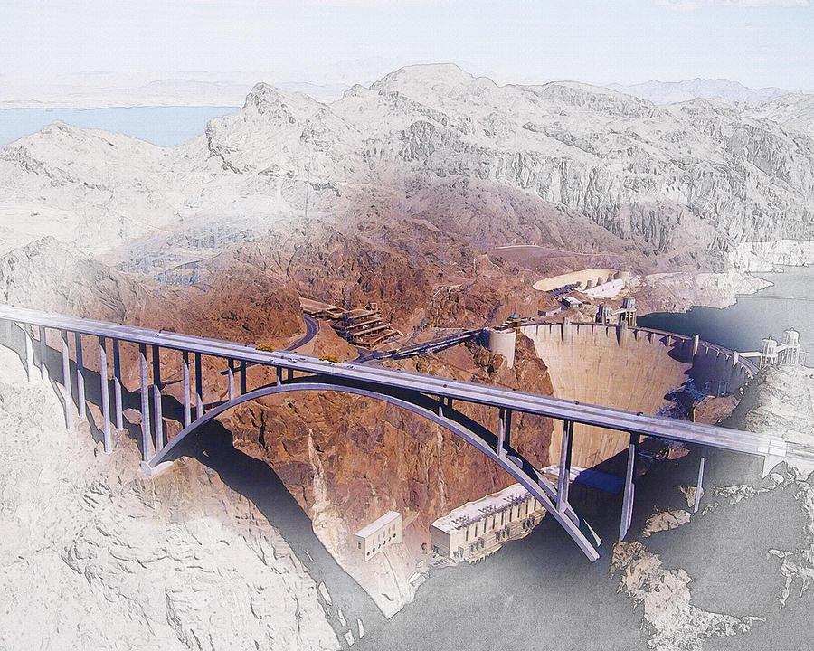 Art & Collectibles Digital Art -  Mike Ocallaghan Pat Tillman Memorial Bridge by Don Kuing