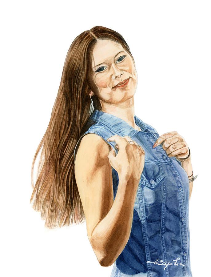 Portret Painting -  Mona  by Rozalia Barliga
