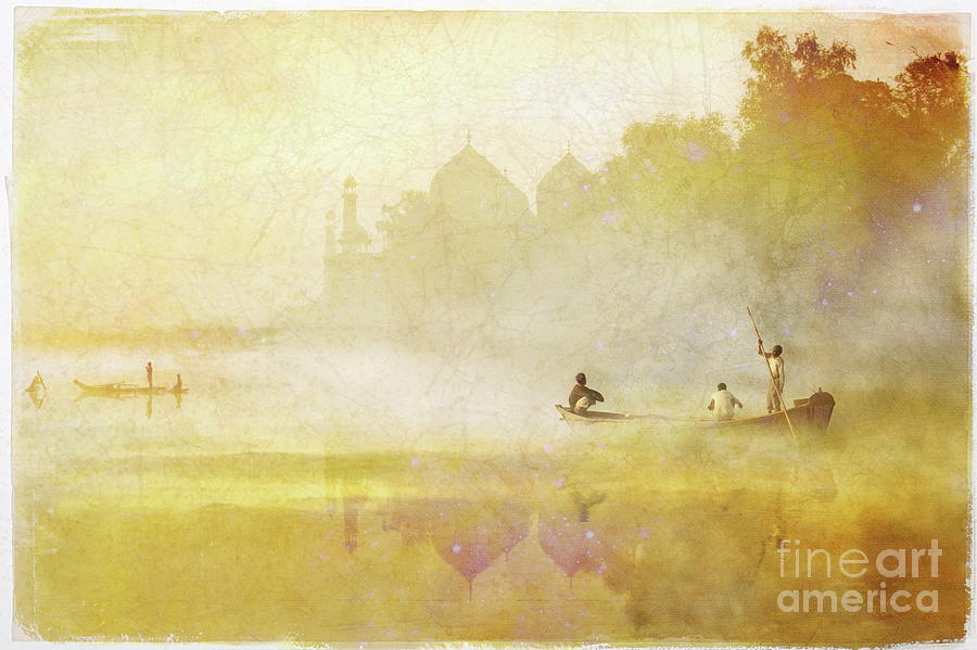 Agra Mixed Media -  Morning Tadj by Alexey Sukhopar