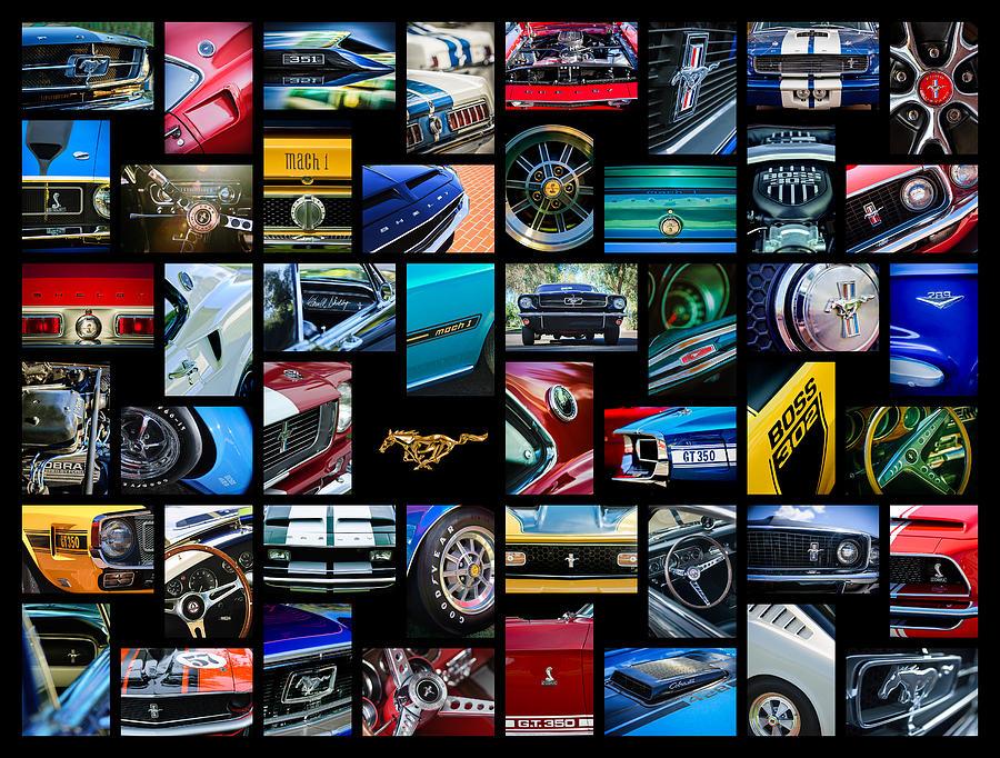 Car Photograph -  Mustang Art -01 by Jill Reger