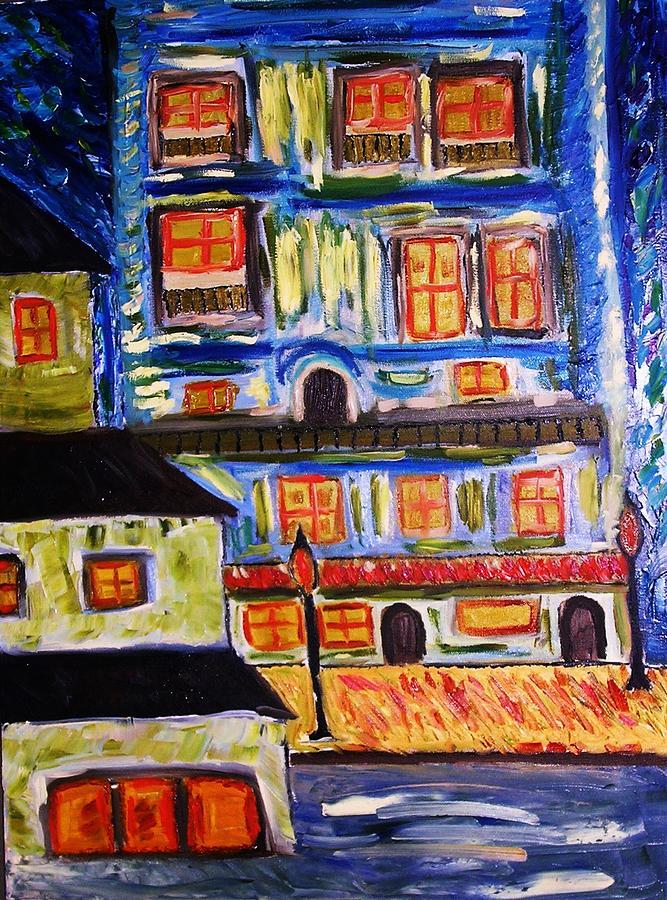Town Painting -  Night Of Thanksgiving by Ian  Fruehauf