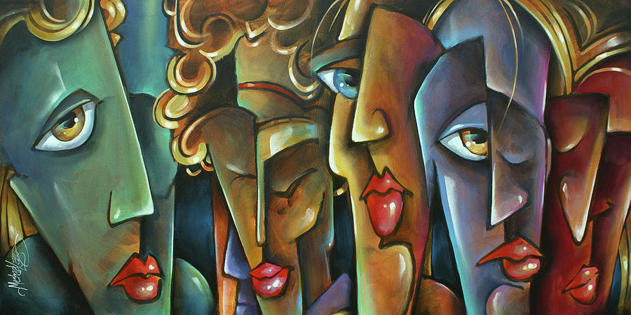Figurative Painting -   No Choices  by Michael Lang