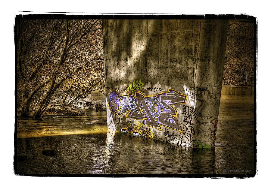 Graffiti Photograph -  No.1 by Jerry Golab