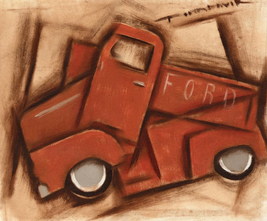Ford Truck Painting -  Old Cubism Truck Art Print by Tommervik