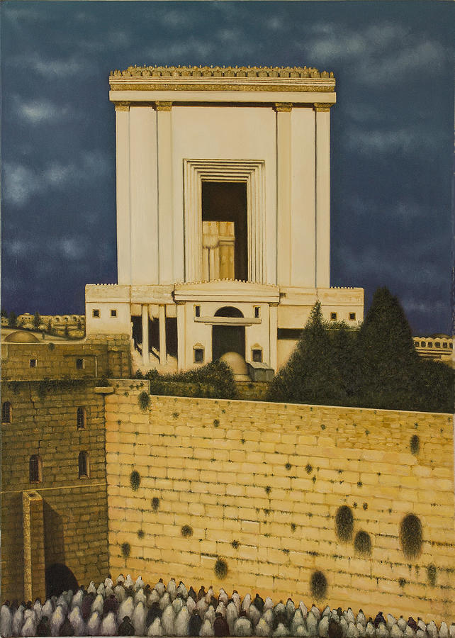 Old Jerusalem. The Third Themple. Painting by Eduard Gurevich