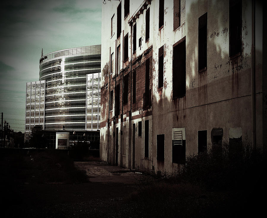Architecture Photograph -  Old Mills And New Offices by Kat Loveland