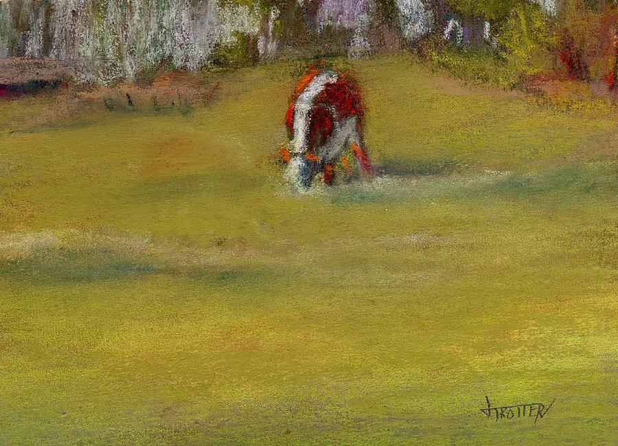 Animal Painting -  One Cow by Jimmie Trotter