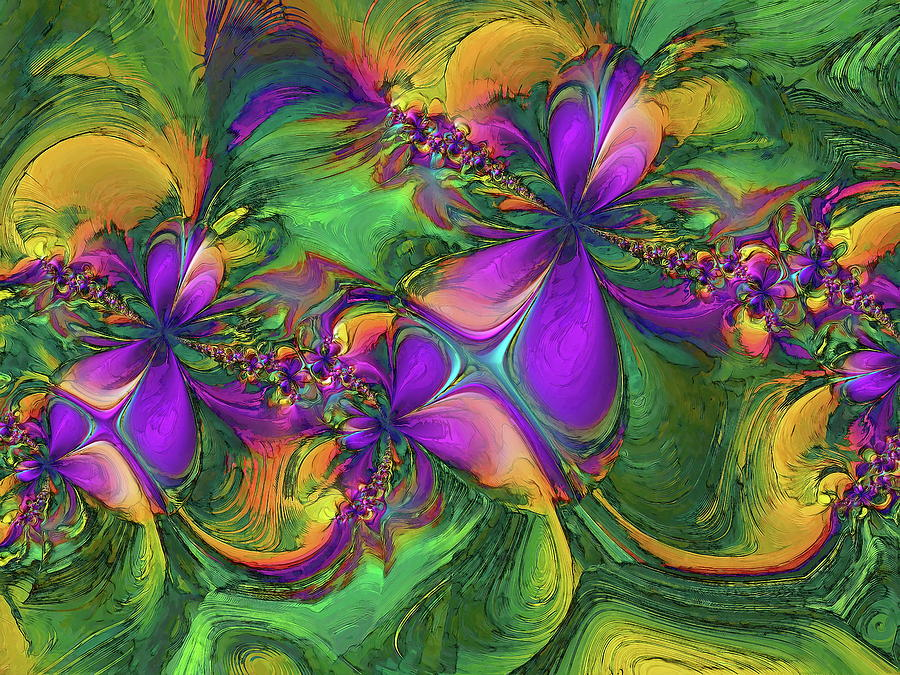 Fractal Artwork Digital Art -  Orchids by Alexandru Bucovineanu