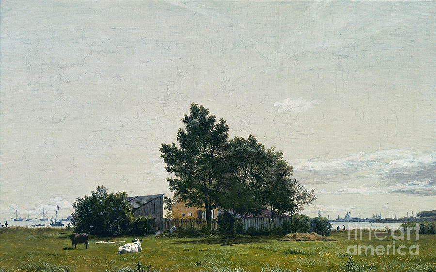 Animals Painting -  Party Near The Lime Kiln With Views Towards The Copenhagen  by Celestial Images