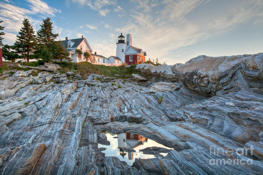 Architecture Photograph -  Pemaquid Point Reflection by Susan Cole Kelly