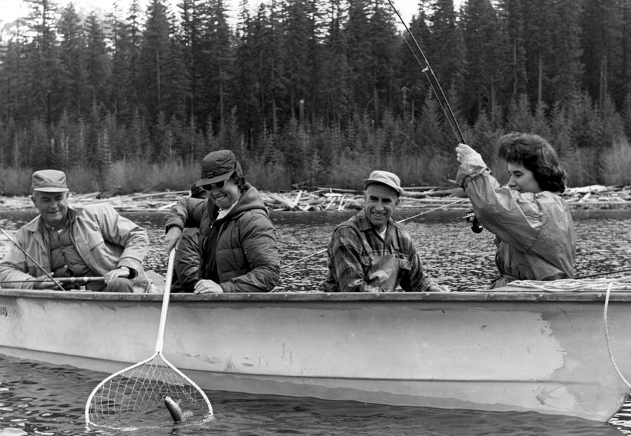 People fishing boat circa 1960 black white 1950s for Videos of people fishing