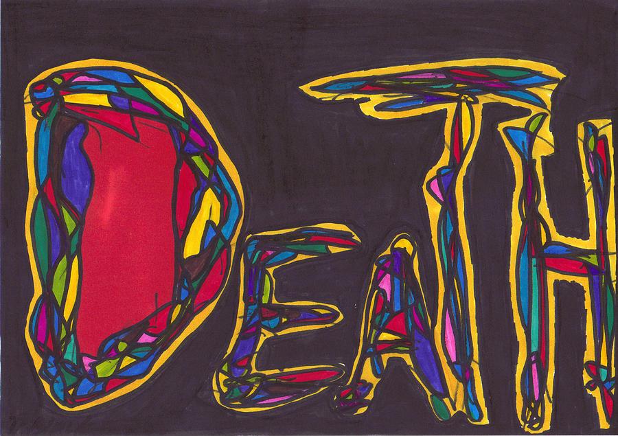 Drawing Drawing -   Pillar Of Death by Darrell Black