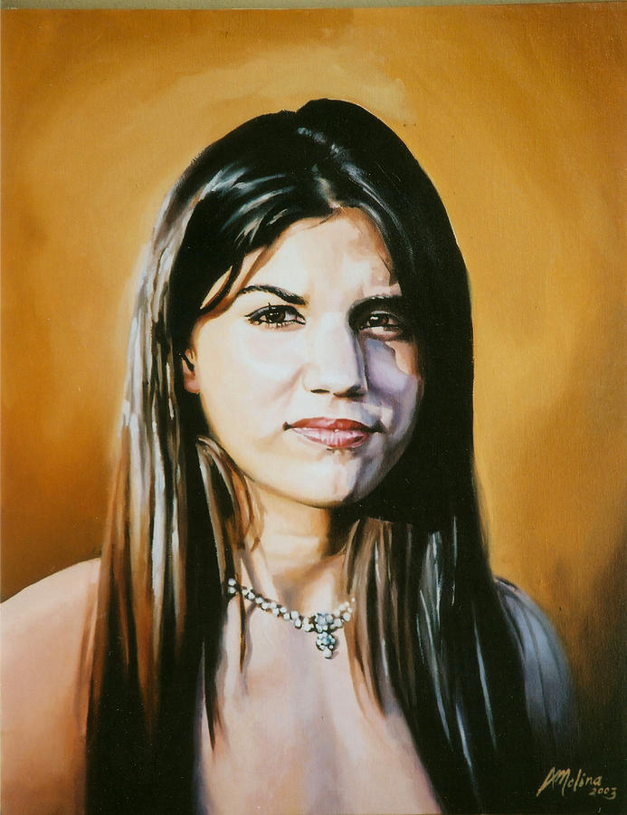 Portraits Painting -  Portrait Of Young Girl  by Antonio Molina