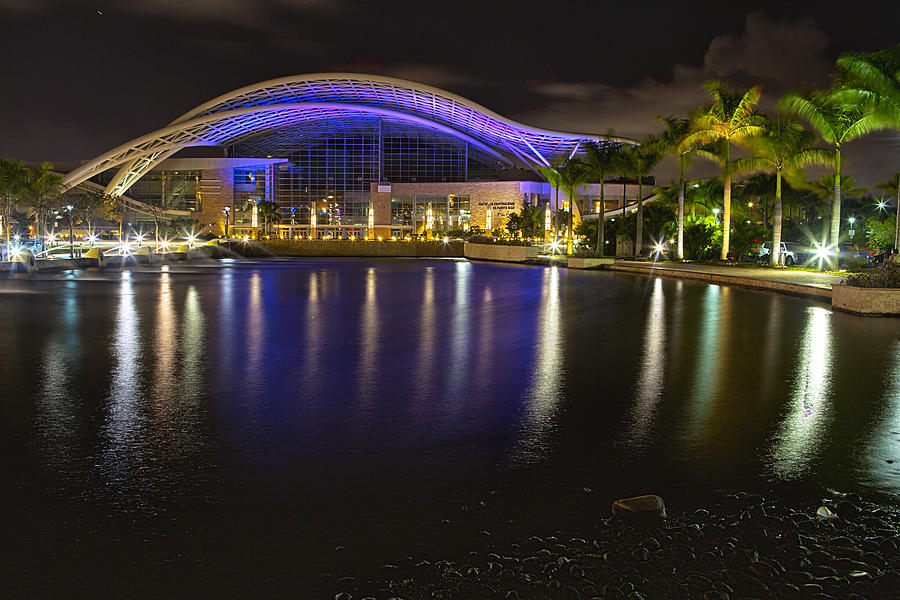 Convention Center District Photograph -  Puerto Rico Convention Center At Night by George Oze