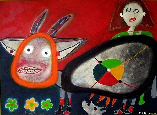 Village Painting -   Random Lifevillage by Ilir   Bala