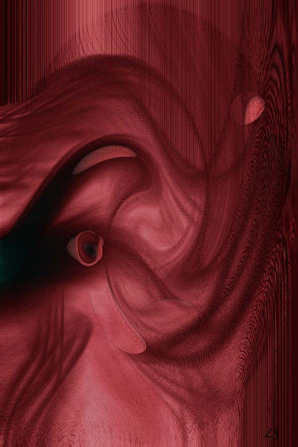 Elephants Digital Art -  Red Elephant  by Linda Sannuti