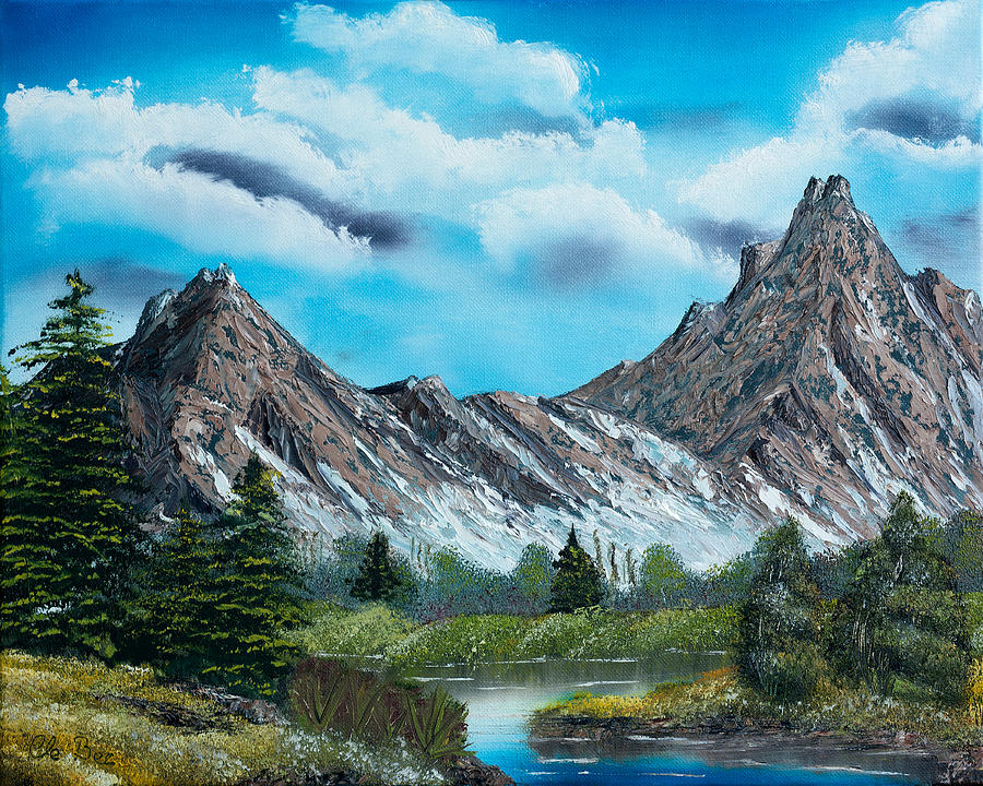 Mountain Painting -  Rocky Mountain Tranquil Escape by Claude Beaulac