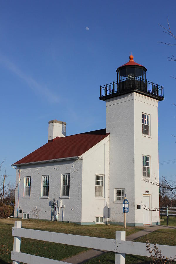 Sand Point Lighthouse Escanaba by Charles and Melisa Morrison