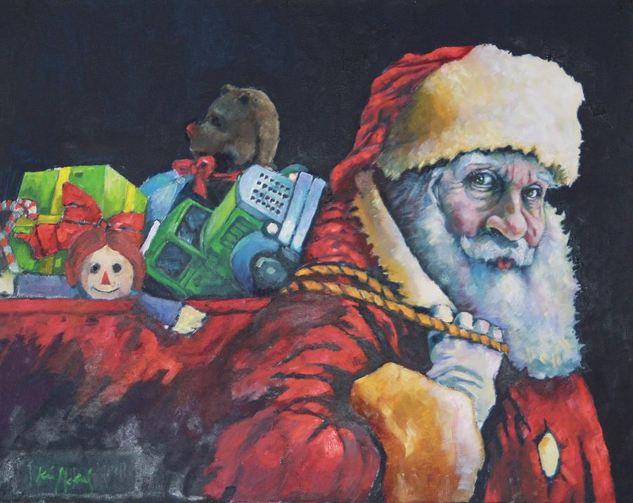 Christmas Painting -  Santa 2015  by Kevin McKrell
