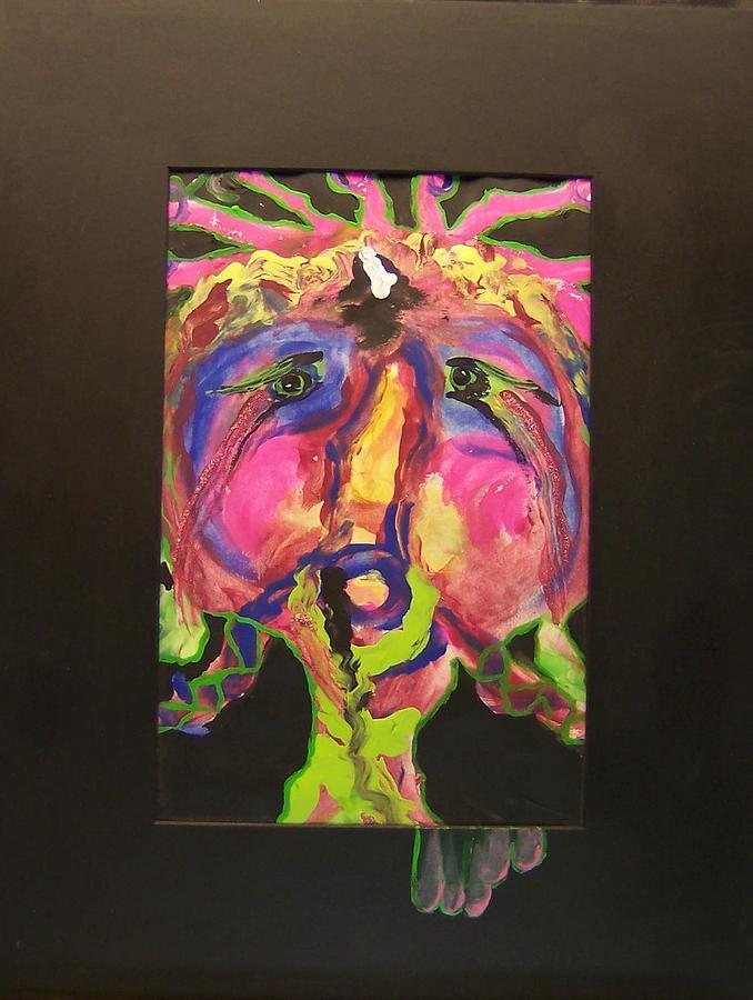 Acrylic Painting -  Self Portrait by Deahn      Benware