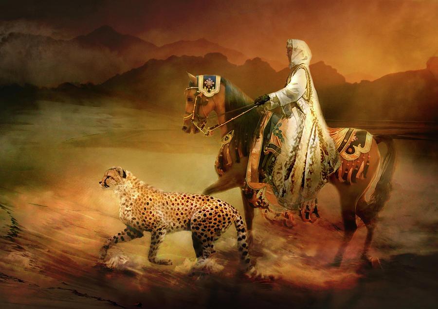 Horse Digital Art -  Shifting Sands by Trudi Simmonds