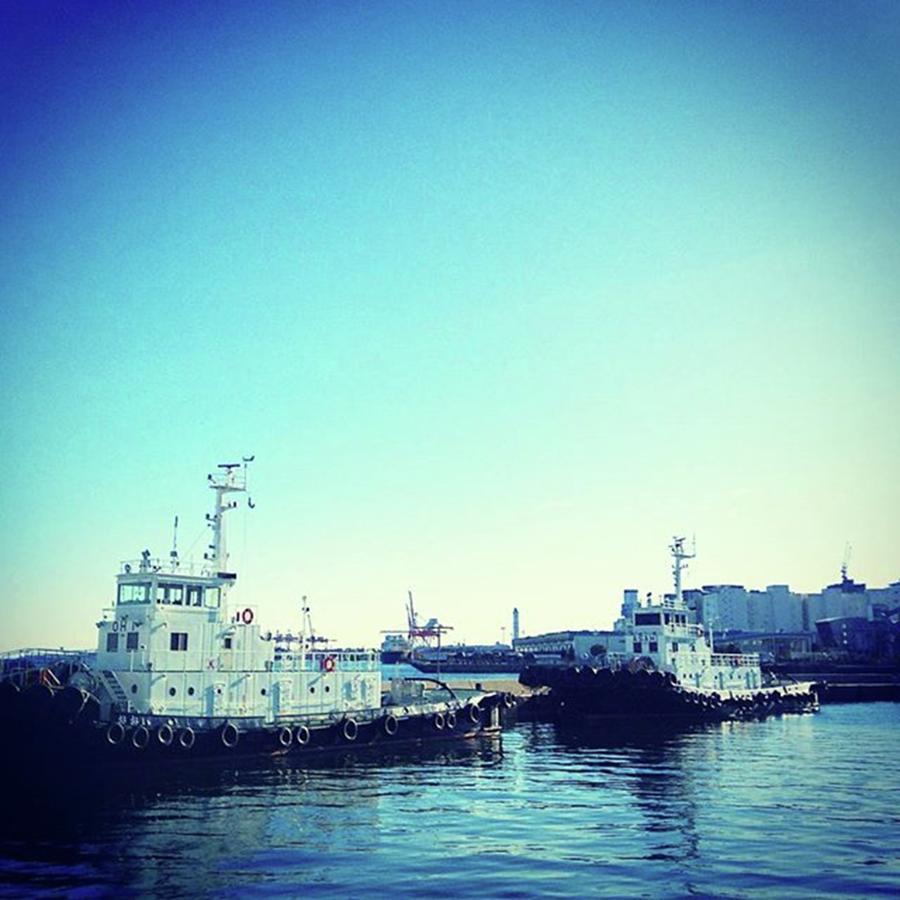 Ships Photograph - #船 #海 #ships #sea #sky by Bow Sanpo