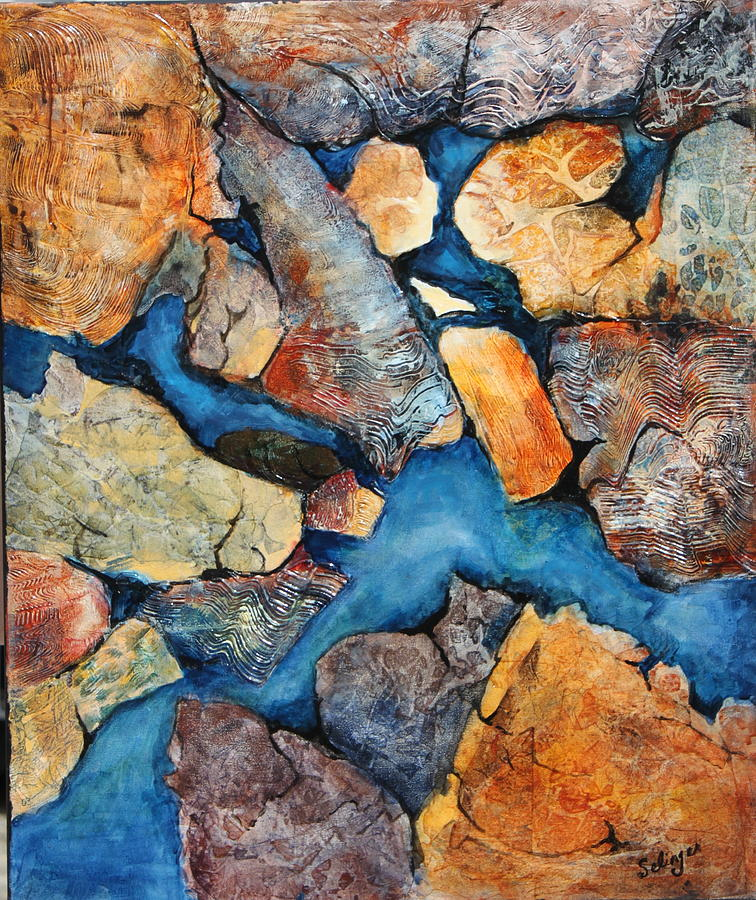 Shoreline Rocks by Kathie Selinger