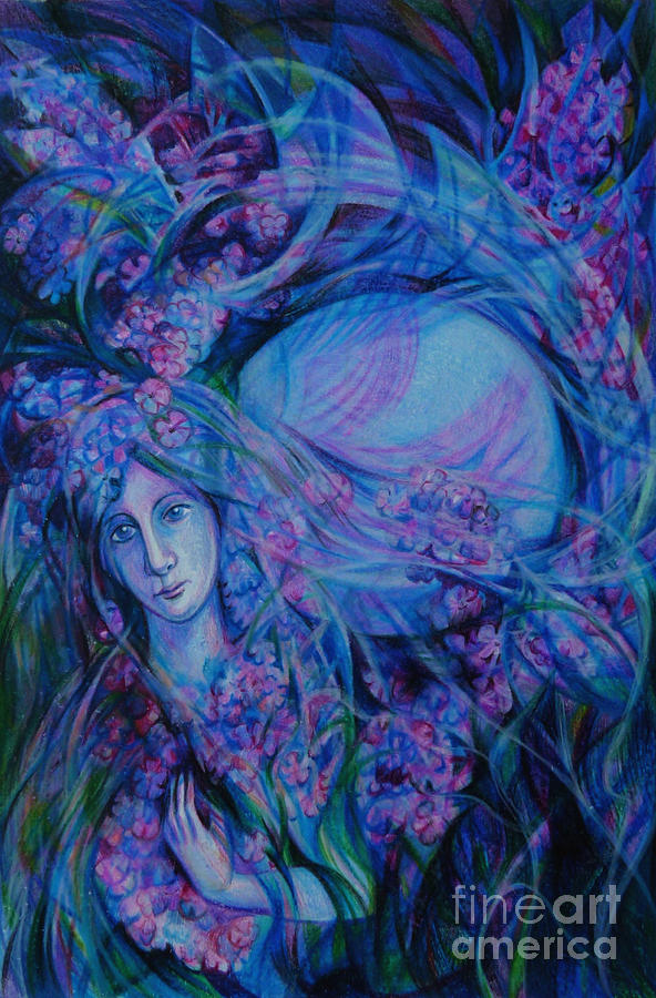 Song Of Lilac Drawing -  Song Of Lilac by Anna  Duyunova