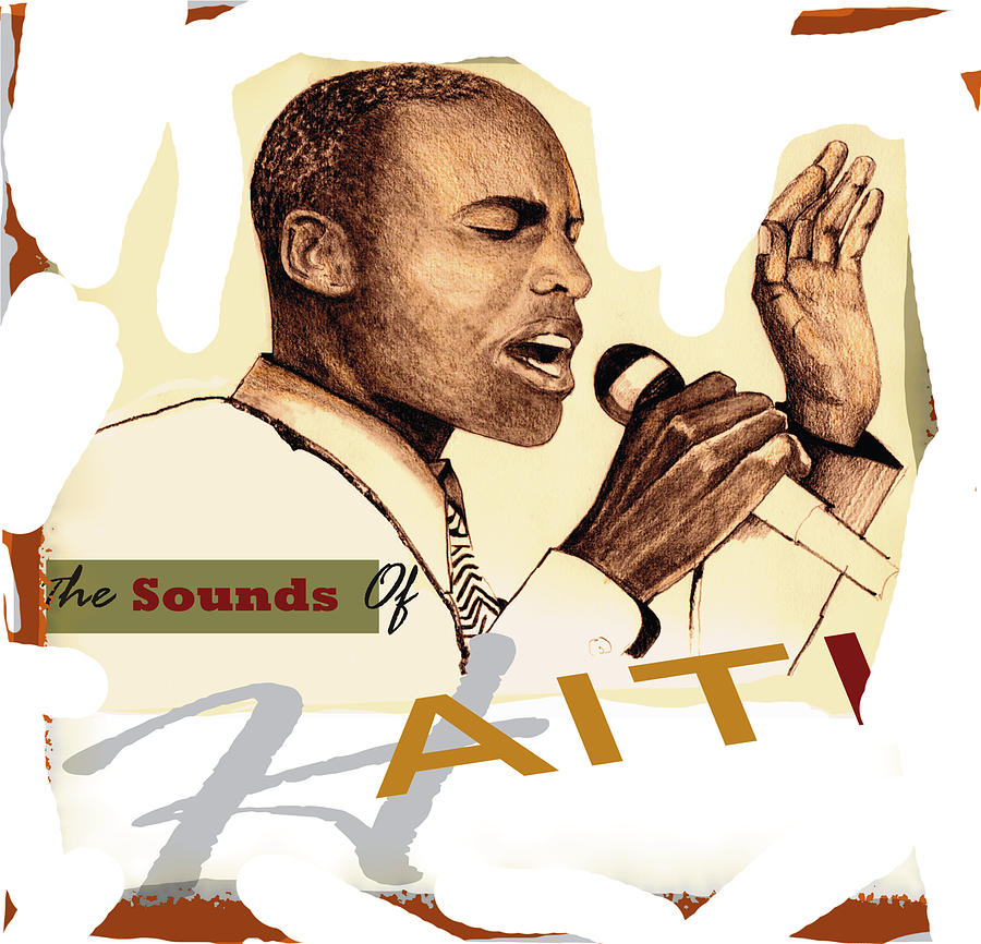 Singer Drawing -  Sounds Of Haiti Poster by Bob Salo