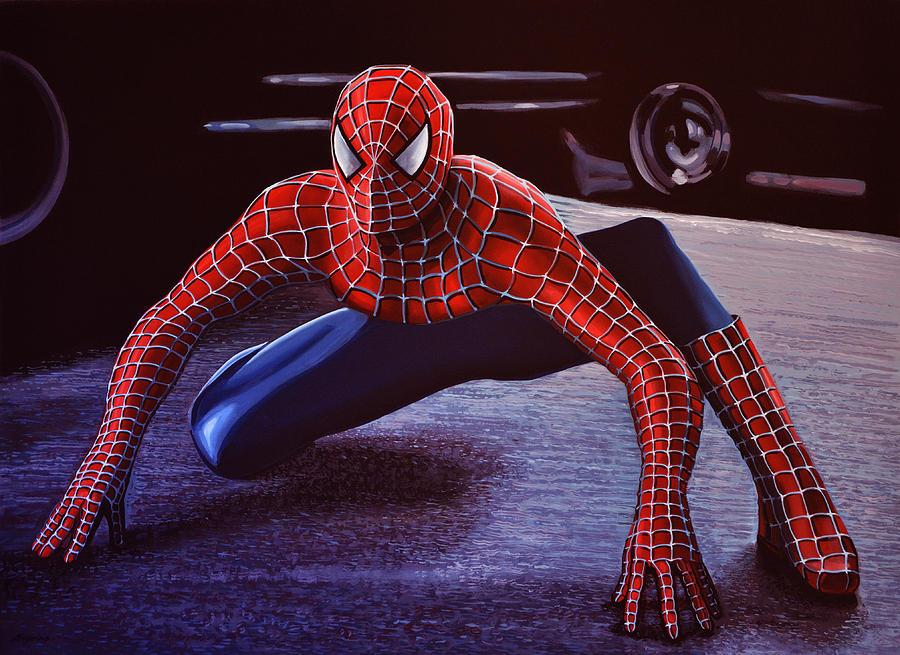 Spiderman Painting -  Spiderman 2  by Paul Meijering
