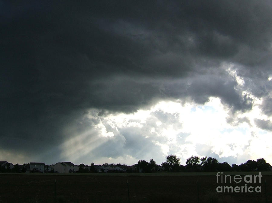 Colorado Photograph -  Storm Cloud  Over Westminster by Nancy Rucker