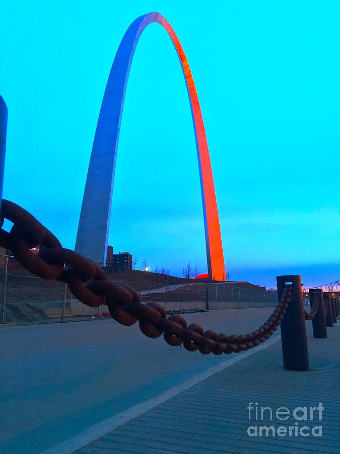 Sunrise at the Arch  by Debbie Fenelon
