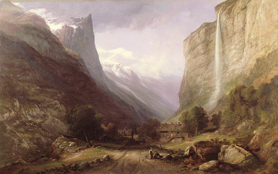 Swiss Painting -  Swiss Scene by Samuel Jackson