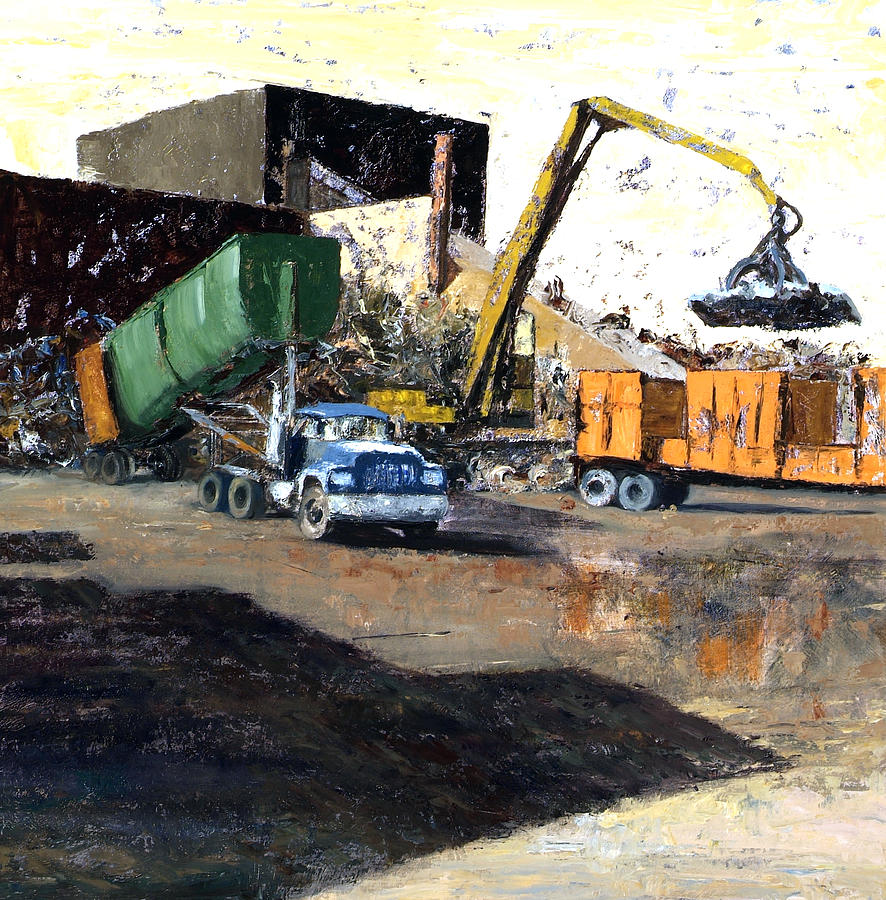 The Blue Truck Painting by Nancy Albrecht