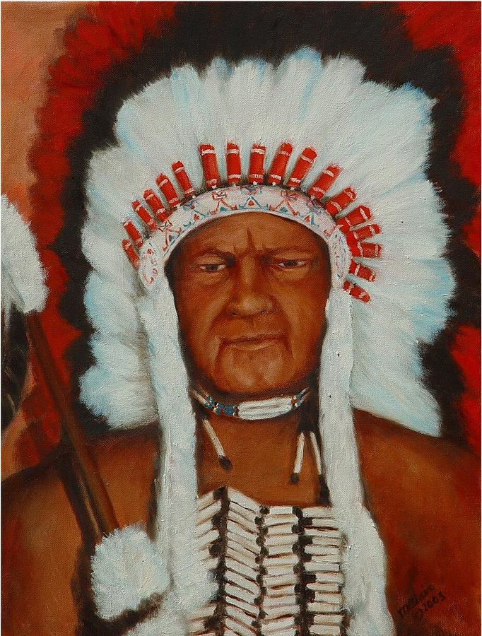 Portriat Painting -  the Chief by Merle Blair